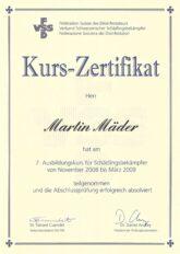 Martin Maeder_Zertifikat